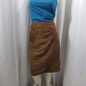 Liz Claiborne Suede Pencil Skirt 				 Size 16